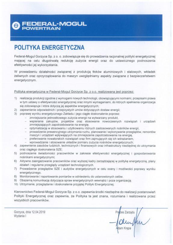 POLITYKA ENERGETYCZNA FM GORZYCE