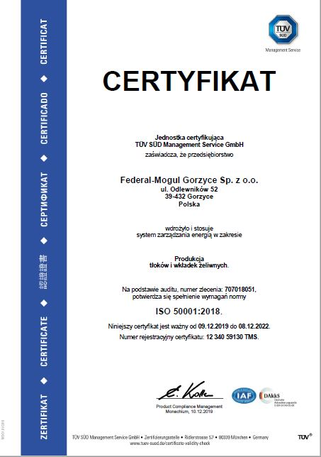 ISO 50001 2018